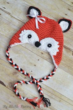 "Crochet Fox Hat - Free Pattern « The Yarn Box The Yarn Box  ""What Does the Fox Say?"" -- my kids love that song!"