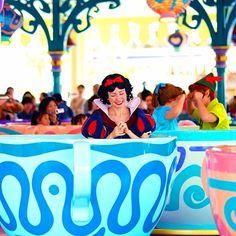 Peter, Wendy & Snow White on the teacups!