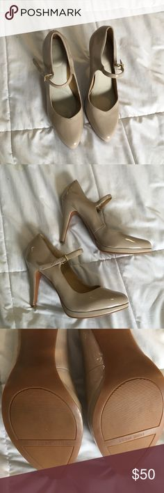 Brand New Patent Pumps from Nine West Brand New Nine West Patent Pumps. These sexy tan pumps will you have you turning heads! These shoes come with insoles to make wear more comfortable! Nine West Shoes Heels