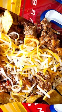 Frito Pie With 1 Hour Texas Chili Recipe — Dishmaps