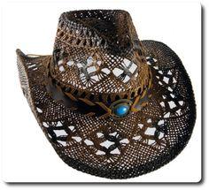 Letni kowbojski kapelusz słomkowy.