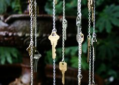 upcycle keys into a whimsical windchime! I was trying to figure out what to do with those random keys.