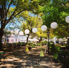 Fox Events has some new white paper lanterns to really add some aerial decor to any event!