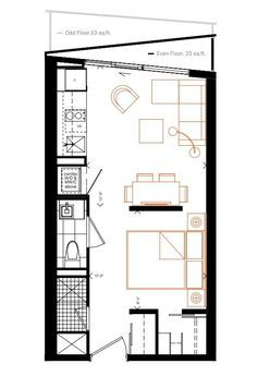 Smart House condos test the limits - Smart House - Ideas of Smart House - 289 sq ft design. Smart House condos test the limits : TreeHugger Small Tiny House, Small House Plans, House Floor Plans, Small Room Design, Tiny House Design, Home Design, Apartment Floor Plans, Apartment Layout, Smart House