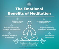 Emotional benefits of meditation