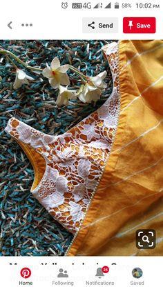 Saree Blouse Neck Designs, Fancy Blouse Designs, Saree Blouse Patterns, Dress Neck Designs, Lehenga Saree, Saris, Indian Designer Wear, Indian Wear, Indian Fashion