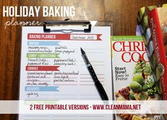Get your holiday baking plans in line with these FREE printables from Clean Mama