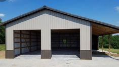 Metal Pole Barns, Metal Garage Buildings, Pole Barn Garage, Metal Barn Homes, Carport Garage, Pole Buildings, Pole Barn Homes, Steel Buildings, Garage Plans