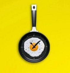 Huismerk Keuken Klok Omelet VS Pan Roze