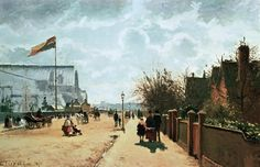 The Crystal Palace, London, by Camille Pissarro. When I think of London, I think of the great writer,  Dickens. This painting, by Camille Pissaro. Tell me what you think? http://maryemartintrilogies.com