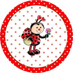 Joaninha - Kit Completo com molduras para convites, rótulos para guloseimas, lembrancinhas e imagens! Baby Ladybug, Ladybug Art, Bug Crafts, Crafts For Kids, Cartoon Bee, Bottle Cap Crafts, Class Decoration, Bottle Cap Images, Candy Cards