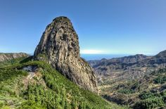 Roque de Agando in La Gomera, Canary Islands:
