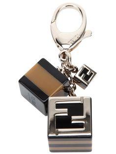 Triple cube charm key ring, Fendi