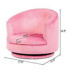 This Girls Pink Swivel Sofa Couch Toddler Playroom Rotatable Furniture will make your child fall in love at first sight. Made of super soft flannel and eucalyptus, the quality is excellent. Kids Armchair, Kids Sofa, Lounge Couch, Couch And Loveseat, Toddler Furniture, Playroom Furniture, Folding Sofa, Storage Chair, Toddler Playroom