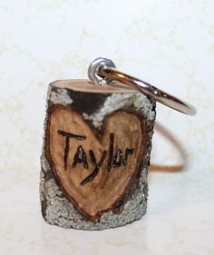 Personalized Tree Branch Keychain  Have initials by PaperJunkie514, $8.50  need idea for attendant gifts
