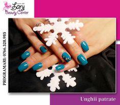 unghii patrate cu gel turcoaz http://www.larybeautycenter.ro/