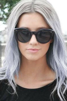 Pastel grey purple hair