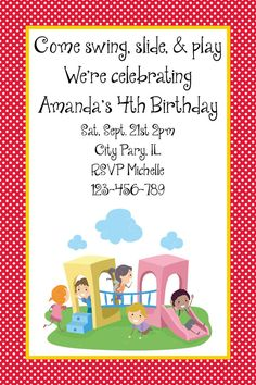 party invitation for kids