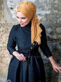 Golden Fall Dress - Orange - Muslima Wear