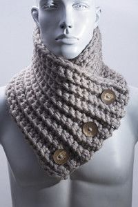 Creative Company | Fresh crochet – Chunky buttoned scarf Creative Company, Chunky Crochet, Craft Projects, Dads, Magic, Fresh, Crafts, Parents, Manualidades