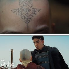 Best Tattoos In Movies-Pt3 : Inked Magazine - The Last Airbender Tattoo by Josh Lord (East Side Ink) #tattoo #tattoos #movies #inkedmag #celebrities #celebritieswithtattoos #actor #actress