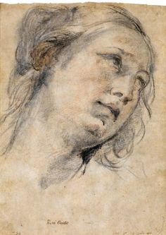 "Guido Reni, Calvenzano 1575-1642 Bologna, ""The Head of a Young Woman ...    omnparts.com"