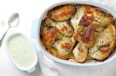 Homemade Green Goddess Dressing Roasted Chicken