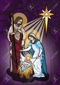 christmas card christian: Vector illustration of the holy family of the nativity or birth of Jesus created as stained glass Illustration Christian Images, Christian Art, Christmas Nativity Scene, Christmas Cards, Nativity Scenes, Easy Christmas Drawings, Nativity Clipart, Church Banners, Halloween Clipart