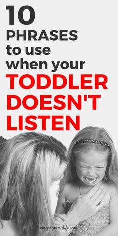 10 Phrases To Use When Your Toddler Doesn't Listen - Easy Mommy Life 10 Phrases To Use When Your Toddler Doesn't Listen. Here are positive discipline tips to get your toddler to listen during a toddle Gentle Parenting, Parenting Quotes, Parenting Hacks, Peaceful Parenting, Parenting Classes, Discipline Positive, Toddler Discipline, Discipline Charts, Baby Activity