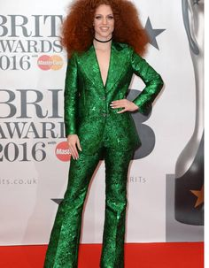 Brit awards red carpet: from Adele to Rihanna, the hits and misses - in pictures Rihanna, Kylie Minogue, Spice Girls, Green Suit, Green Dress, Brit Awards 2016, Costume Vert, Ella Eyre, Jess Glynne
