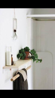 Wood and cooper shelf