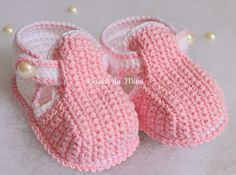 "Botines del ganchillo para bebé ~ ""ganchillo Mimi"""