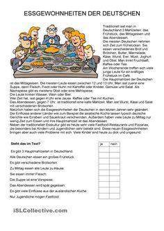 Essen - Essgewohnnheiten der Deutschen