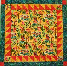 Hula Girls child's quilt.