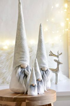 Scandinavian Gnome SET, Nordic Gnome Tomte Family, Nordic Inspired Home Decoration, Hygge Holiday De - New Sites Christmas Gnome, Christmas Projects, Christmas Holidays, Christmas Decorations, Christmas Ornaments, Scandinavian Gnomes, Scandinavian Christmas, Holiday Crafts, Holiday Decor