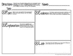 FREE Common Core ELA Paragraph Writing Graphic Organizer