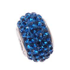 Imenso Zilveren Bead Donker Blauw