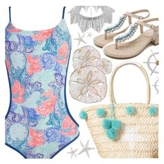 """""""Beach Style"""" by pastelneon ❤ liked on Polyvore"""