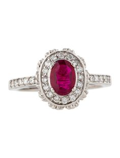 1.20ctw Ruby and Diamond Ring - Fine Jewelry - FJR21242 | The RealReal