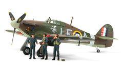 Tamiya's 1/48 Hawker Hurricane MkI kit with 3 figures # 37011.