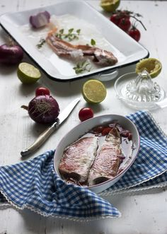 Lime marinated red mullet