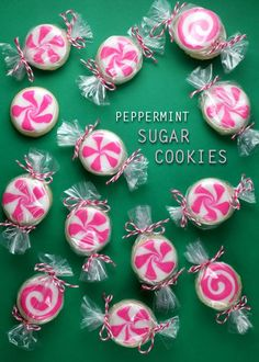 Peppermint Candy Sugar Cookies | Bakerella  Click for #recipe and more #cookie exchange ideas!