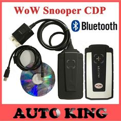 2016 Best wow snooper with Bluetooth v5.008R2 dvd TCS cdp pro obd2 scan for cars and trucks OBDII auto diagnostic tool Free ship