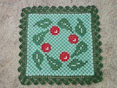 Bordado em tecido xadrez - Toalhinha