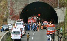 Túnel de autoestrada desabou no Japão