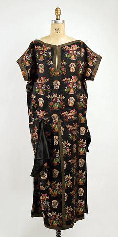 Dress, Evening Madame Havet (French) Date: ca. 1922 Culture: French Medium: silk, metal braid