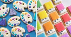 Los Angeles-based graphic designer Holly Fox has merged her passion for colorful designs with baking, and the results are these adorable sugar cookie designs: 'I started baking about 5 years ago on a whim, to try and see if I could figure out this whole royal icing thing. Since then, I have been mixing many, many colors and piping many, many jewels…and I absolutely love it!'