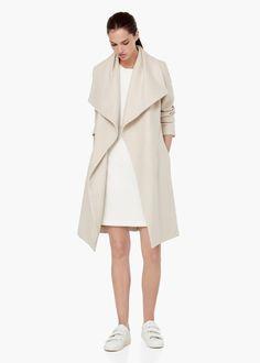 Cappotto lana revers