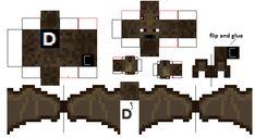 Minecraft Papercraft Bat
