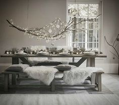 Pinching this idea for christmas ♡ #BERTIE&FRED ##bertie&fred #pinterest #share #inspiration #home #interior #scandinavian #industrialdesign #christmastime #decor #whiteandsilver #cosynights #furniture #mutedtones #style #vintage #memories #linens #collection #cosy #family #nostalgia #life #reclaimed #recycled #familytime